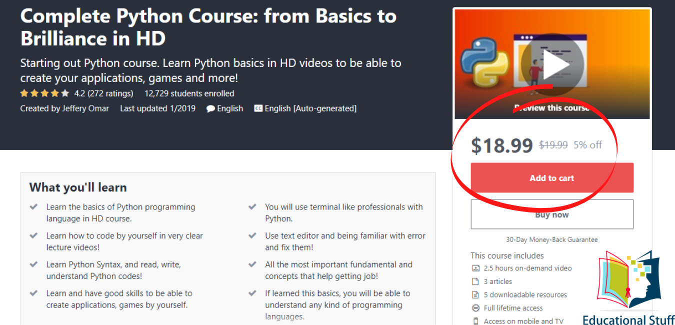 Udemy - Complete Python Course from Basics to Brilliance HD