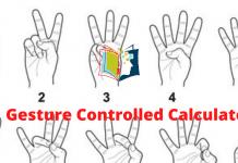 Gesture Controlled Calculator